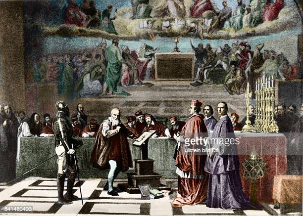 Galileo Galilei Galileo Galilei *15641642 Physicist astronomer Italy Galilei appearing before the tribunal of the inquisition 1632 Identical with...