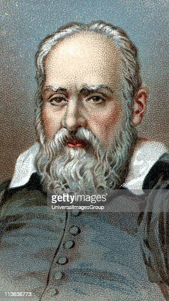 Galileo Galilei Italian astronomer and mathematician Chromolithograph after portrait by Sustermans