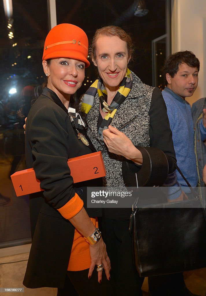 Galina Soboleva (L) and Sonce LeRoux attend High Fashion/2013 MOE Aliona Kononova Collection, brought to you by the all-new Lincoln MKZ, hosted by Joel Chen and Lyn Winter at C Project on December 12, 2012 in Los Angeles, California.