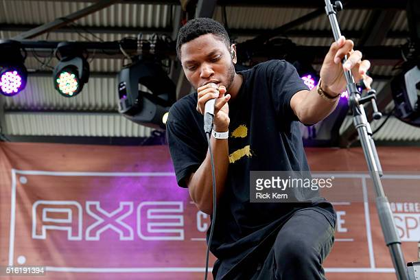 Gallant performs at the AXE Collective Crew Powered By SPIN hosted by AXE during SXSW on March 17 2016 in Austin Texas