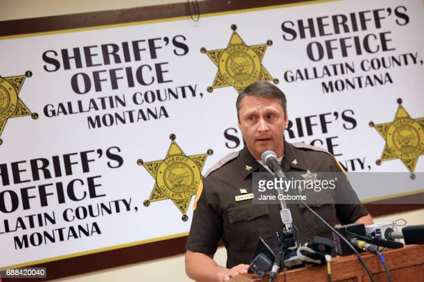 Gallatin County Sheriff Brian Gootkin speaks to the press about Republican candidate Greg Gianforte'ss involvement with reporter Ben Jacobs at a...