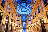 The Galleria Vittorio Emanuele II, one of the world's oldest shopping malls, Milan, Italy