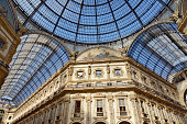 Galleria Vittorio Emanuele in Milan, detail of the vault