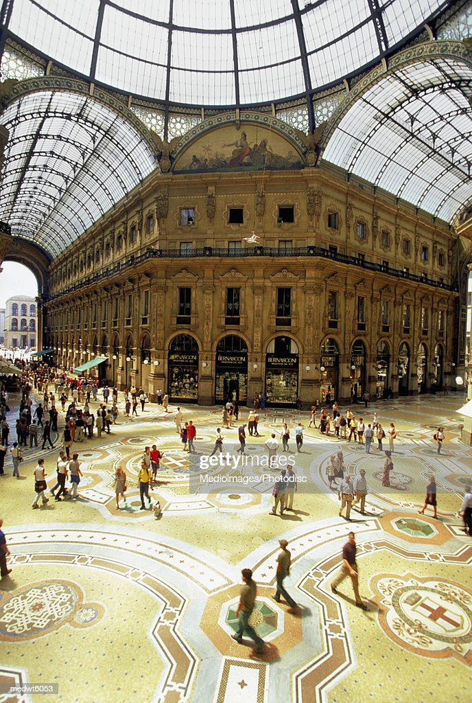 Galleria Vittorio Emanuele, Milan, Italy : Stock Photo