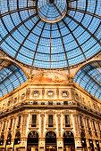 Galleria Vittorio Emanuele Milan piazza Duomo view