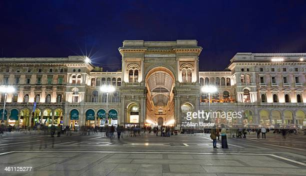 Galleria Vittorio Emanuelle II at night
