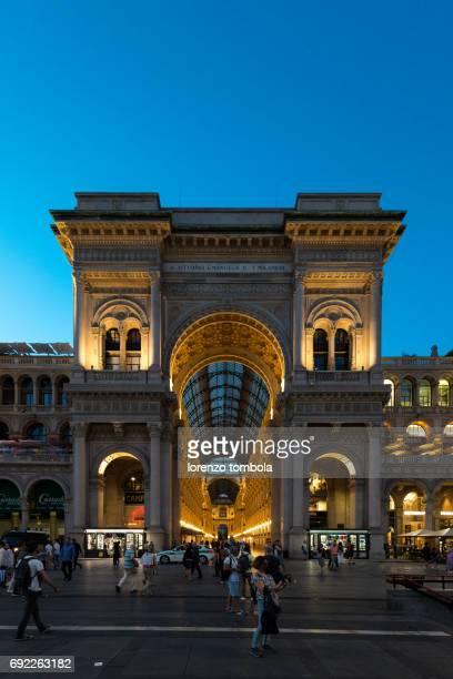 Galleria Vittorio Emanuelle II in Milan at sunrise