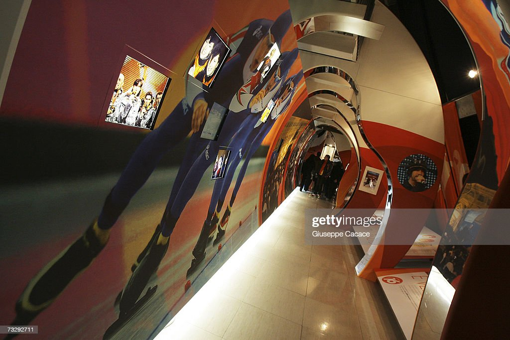 A gallery at the newly opened Olympic Museum at Atrium on February 10, 2007 in Turin, Italy.