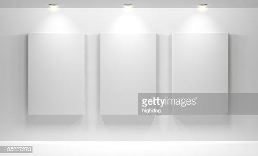 ギャラリー、空白のインテリア