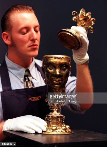 Gallery Porter Scott Riddell examines a17th century silvergilt German heraldic marriage cup estimated value 1000 2000 The art work went on show in...