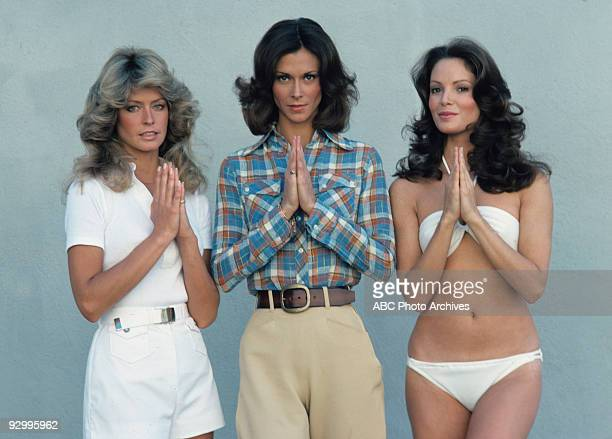 S ANGELS gallery Season One 6/15/76 Pictured from left Farrah FawcettMajors Kate Jackson and Jaclyn Smith played undercover detectives Jill Munroe...