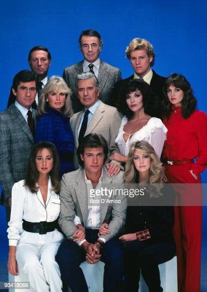 DYNASTY gallery Season Two 11/4/81 Pictured top row left Lloyd Bochner Lee Bergere Al Corley middle row James Farentino Linda Evans John Forsythe...
