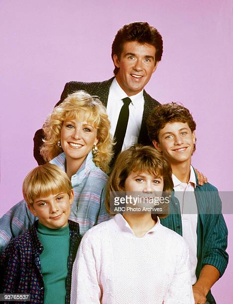PAINS Gallery Season Two 9/30/86 Pictured top Alan Thicke Joanna Kerns Kirk Cameron Jeremy Miller Tracey Gold star in the ABC sitcom 'Growing Pains'...
