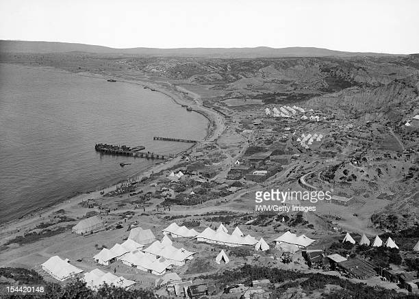 Gallipoli 1915 Ocean or North Beach north of Ari Burnu and Anzac Cove looking towards Suvla during the Gallipoli Campaign 1915 In the foreground is...