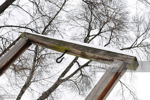 Gallows in Auschwitz I concentration camp where camp commandant Rudolf Hoess was executed on 16th April 1947 photo taken on December 17 2009 in...