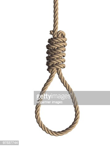 Gallows noose on white Background