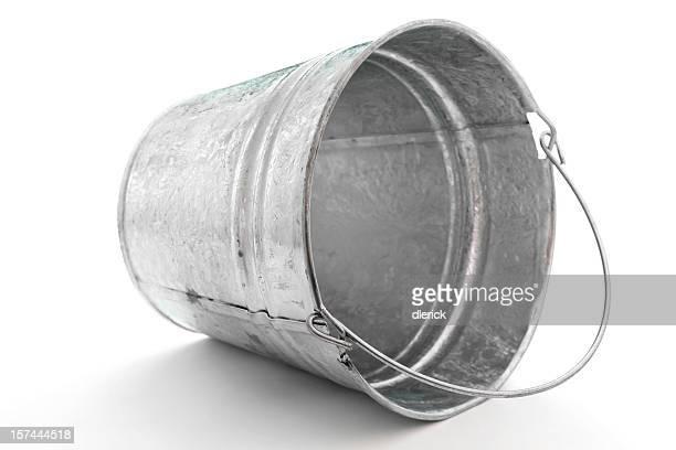metal galvanizado cubo de punta en el lateral