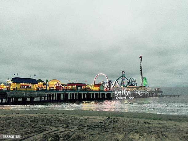 Galveston Island Pleasure Pier at Dusk