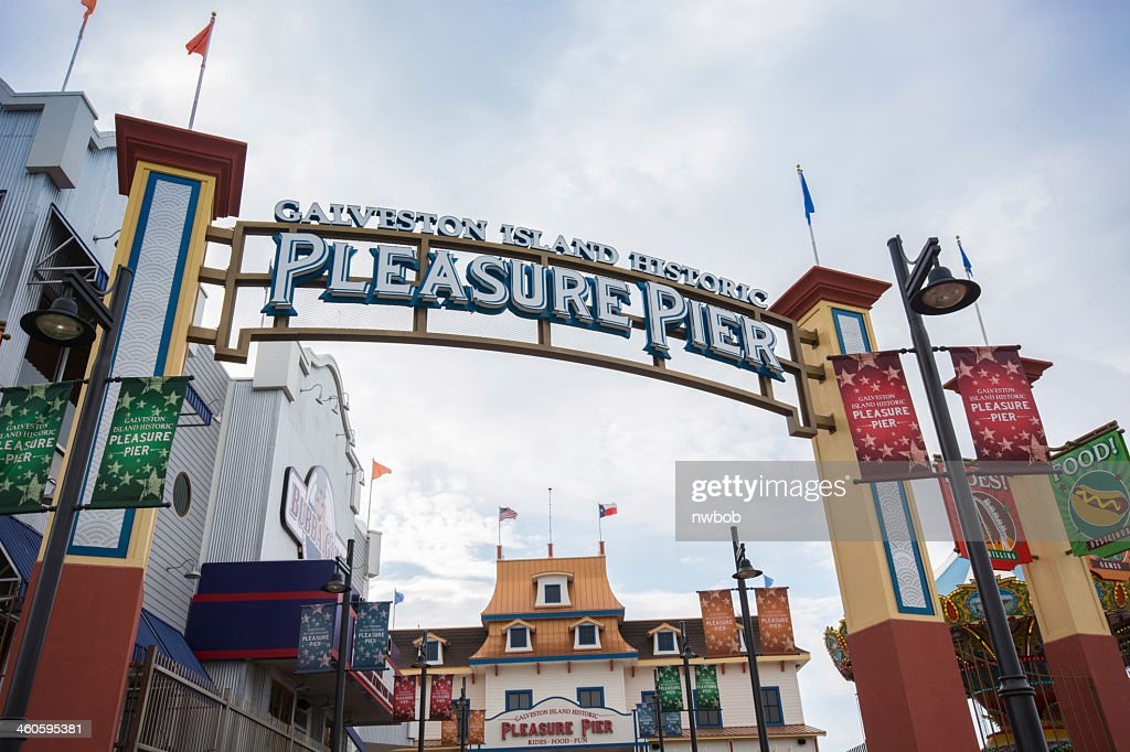 Galveston, Texas Pleasure pier : Stock Photo