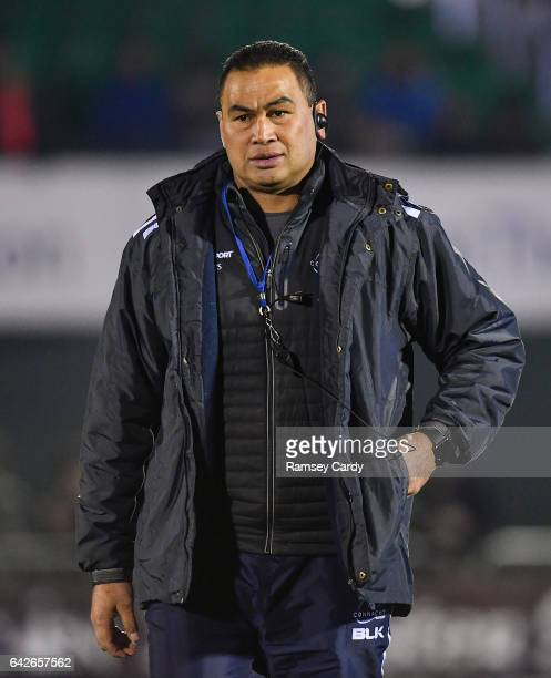 Galway Ireland 18 February 2017 Connacht head coach Pat Lam ahead of the Guinness PRO12 Round 15 match between Connacht and Newport Gwent Dragons at...