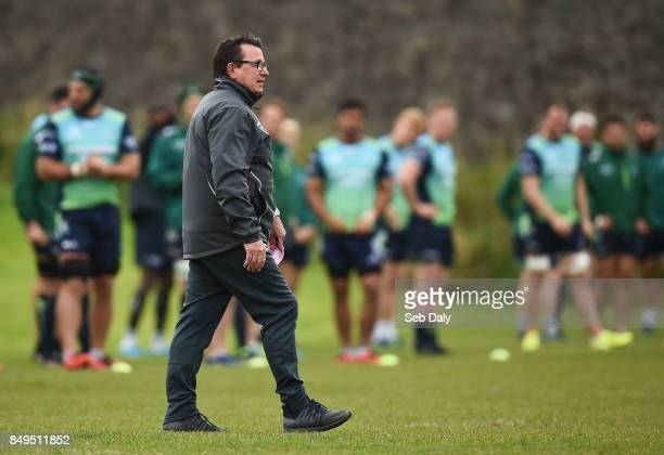 Galway Ireland 19 September 2017 Connacht head coach Kieran Keane during squad training at the Sportsground in Galway