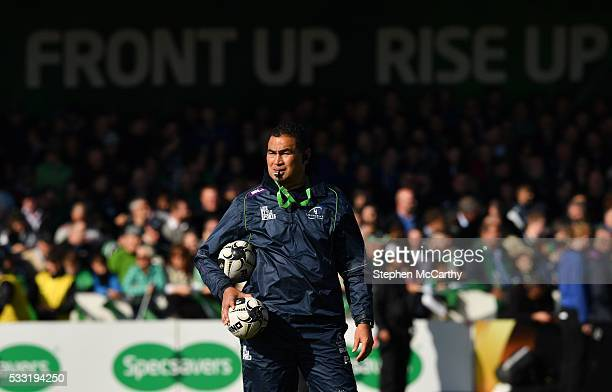 Galway Ireland 21 May 2016 Connacht head coach Pat Lam ahead of the Guinness PRO12 Playoff match between Connacht and Glasgow Warriors at the...