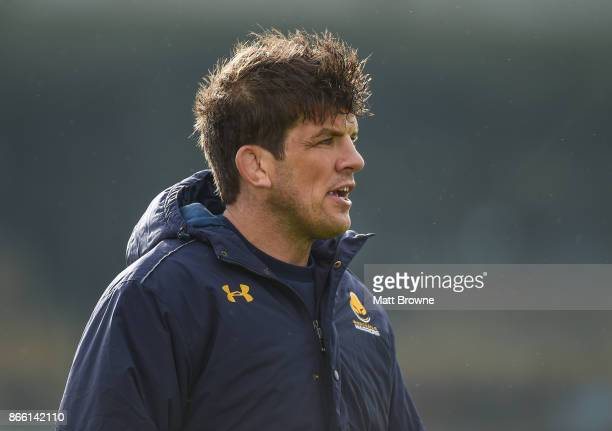 Galway Ireland 21 October 2017 Donncha O'Callaghan of Worcester Warriors at the European Rugby Champions Cup Pool 5 Round 2 match between Connacht...