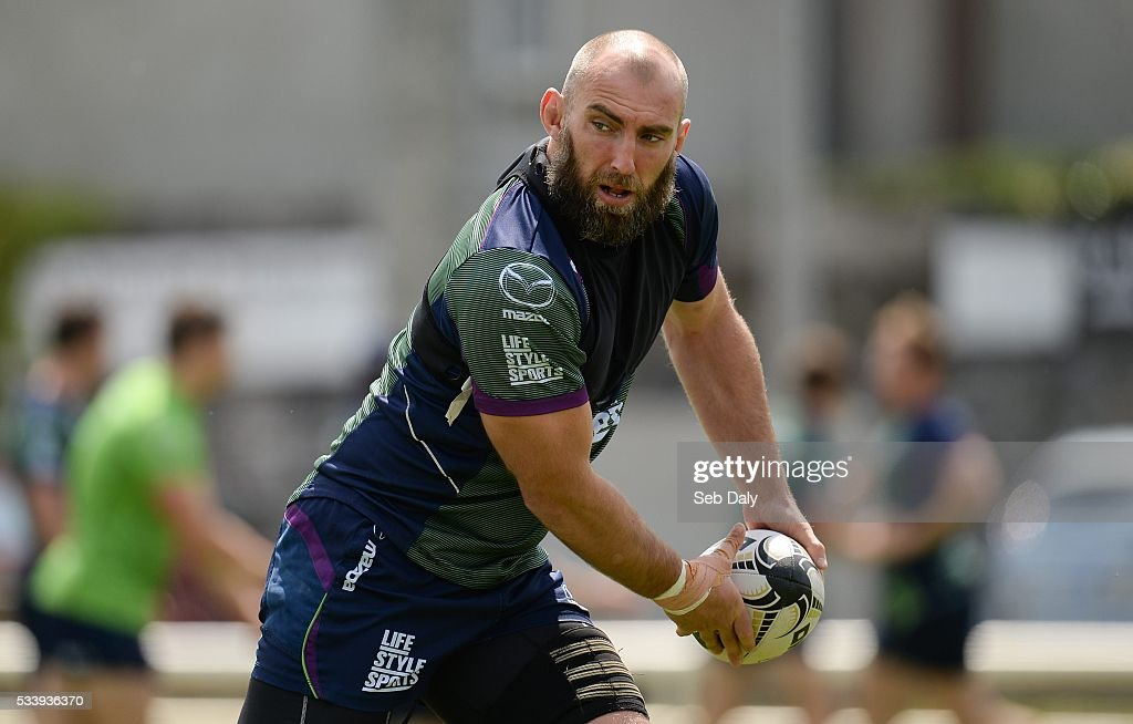 Galway , Ireland - 24 May 2016; Connacht captain John Muldoon during squad training at the Sportsground, Galway.