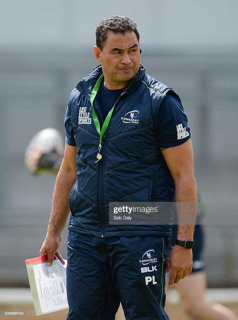 Galway , Ireland - 24 May 2016; Connacht head coach Pat Lam during squad training at the Sportsground, Galway.