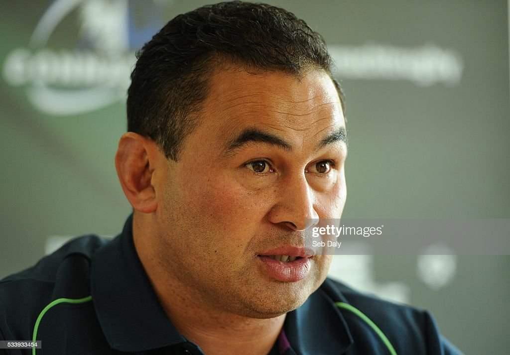 Galway , Ireland - 24 May 2016; Connacht head coach Pat Lam speaking during a press conference at the Sportsground, Galway.
