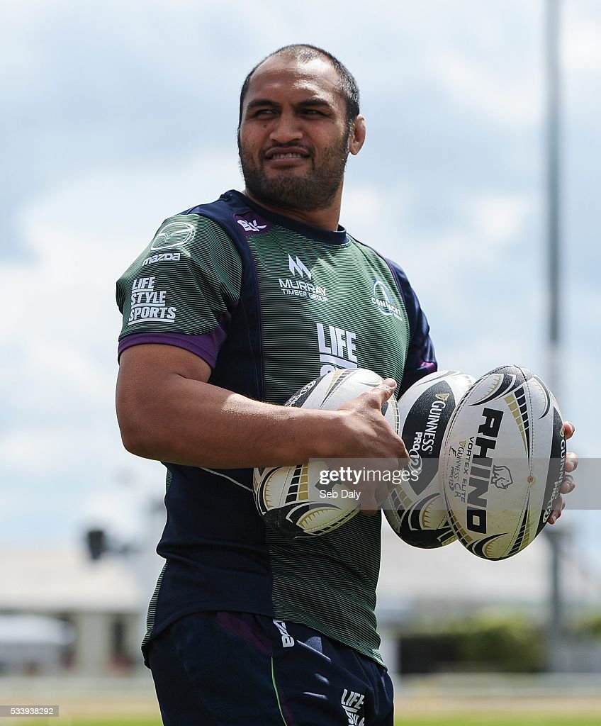 Galway , Ireland - 24 May 2016; George Naoupu of Connacht during squad training at the Sportsground, Galway.