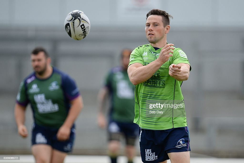 Galway , Ireland - 24 May 2016; John Cooney of Connacht during squad training at the Sportsground, Galway.