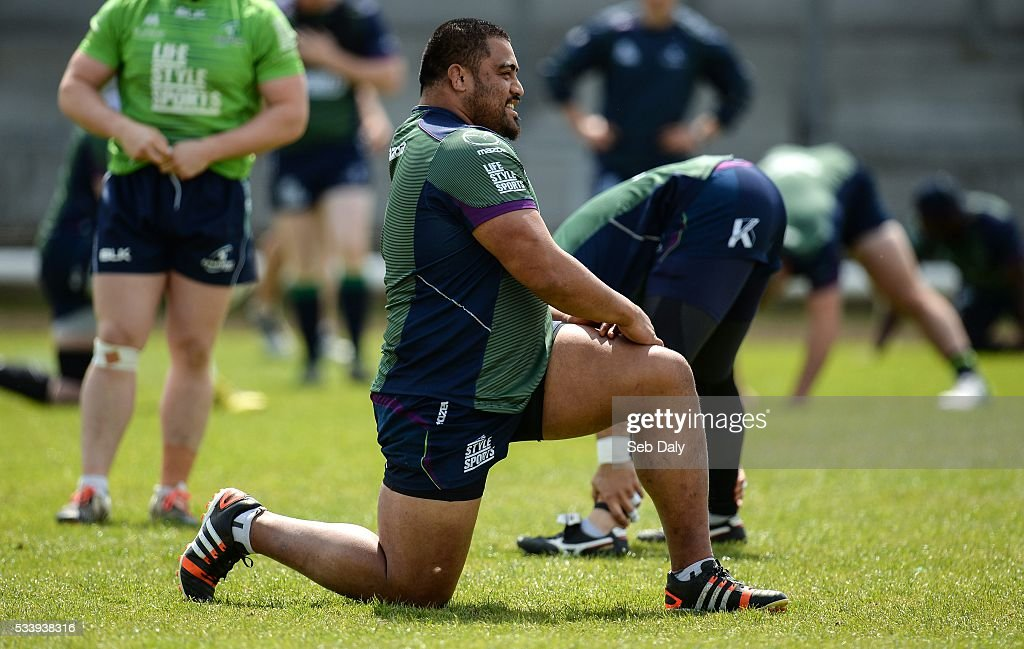 Galway , Ireland - 24 May 2016; Rodney Ah You of Connacht during squad training at the Sportsground, Galway.