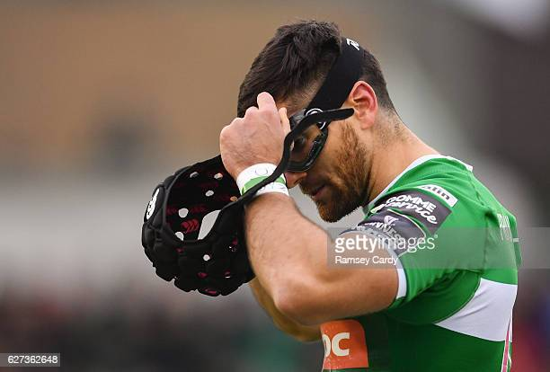 Galway Ireland 3 December 2016 Ian McKinley of Treviso puts on his protective goggles during the Guinness PRO12 Round 10 match between Connacht and...