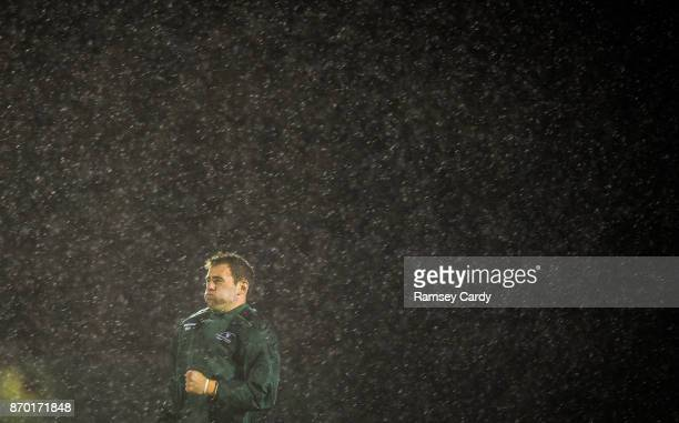 Galway Ireland 4 November 2017 Craig Ronaldson of Connacht warms up ahead of the Guinness PRO14 Round 8 match between Connacht and Cheetahs at the...
