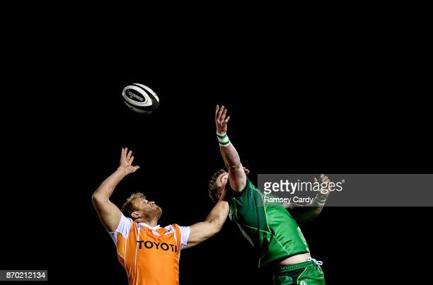 Galway Ireland 4 November 2017 Gavin Thornbury of Connacht in action against Carl Wegner of Cheetahs during the Guinness PRO14 Round 8 match between...
