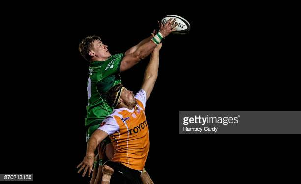 Galway Ireland 4 November 2017 Gavin Thornbury of Connacht in action against Hugo Reniel of Cheetahs during the Guinness PRO14 Round 8 match between...
