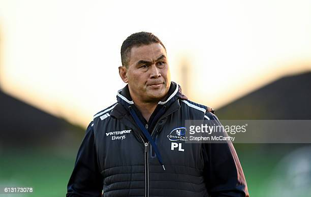 Galway Ireland 7 October 2016 Connacht head coach Pat Lam during the Guinness PRO12 Round 6 match between Connacht and Ulster at the Sportsground in...