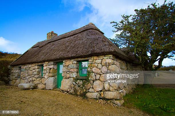 Galway, Ireland: Beautiful Old Stone House with Thatched Roof