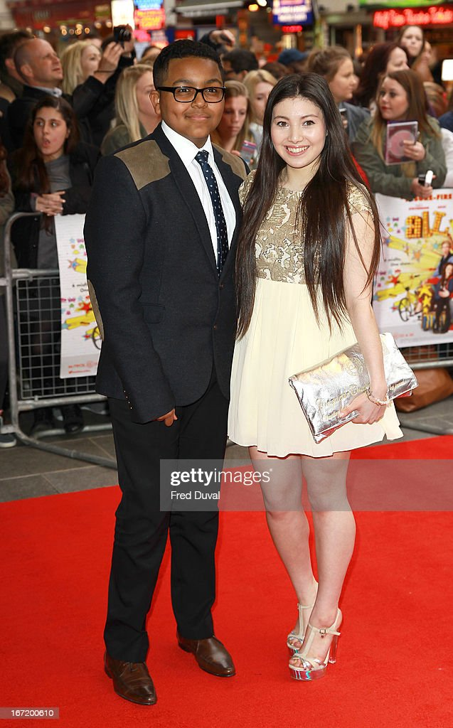 Gamal Toseafa and Hanae Atkins attend the UK Premiere of 'All Stars' at Vue West End on April 22, 2013 in London, England.
