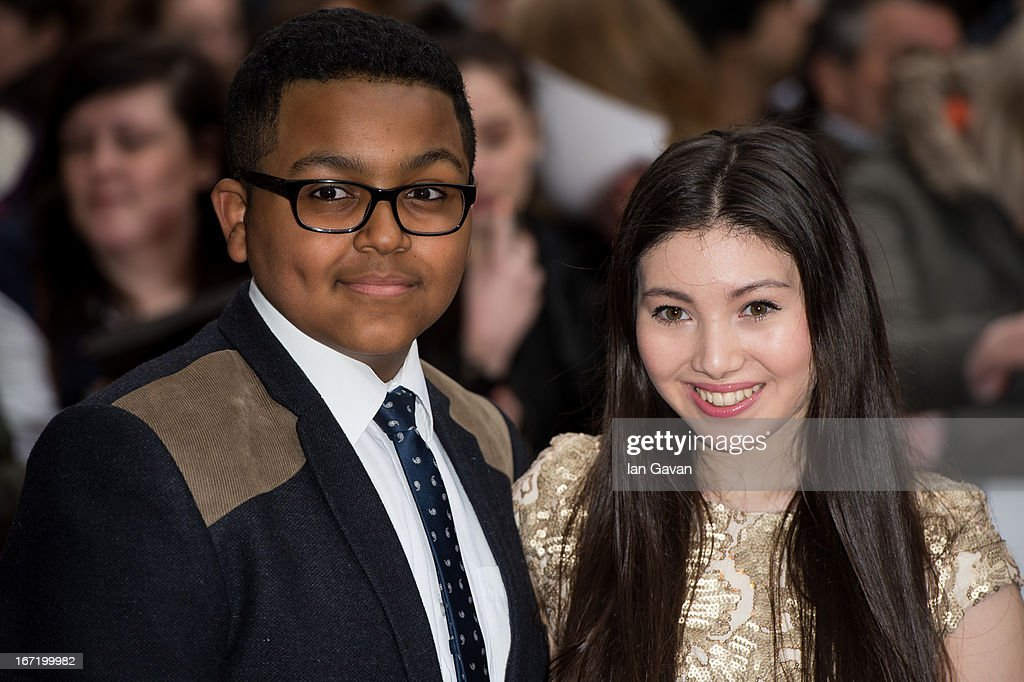 Gamal Toseafa and Hanae Atkins attends the UK Premiere of 'All Stars' at the Vue West End cinema on April 22, 2013 in London, England.