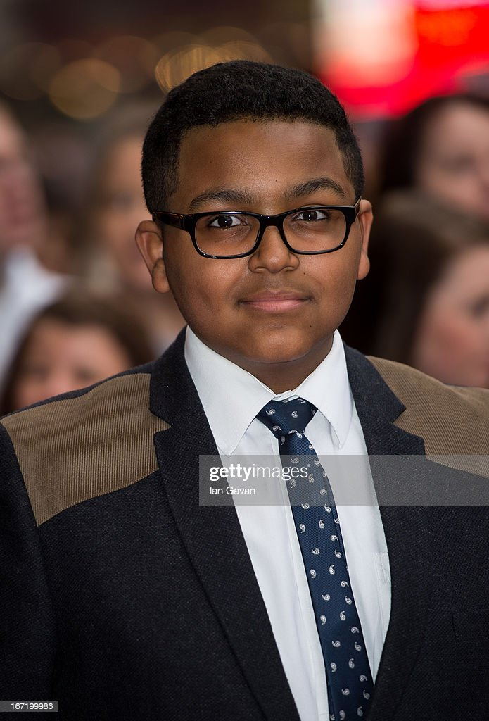 Gamal Tosefa attends the UK Premiere of 'All Stars' at the Vue West End cinema on April 22, 2013 in London, England.