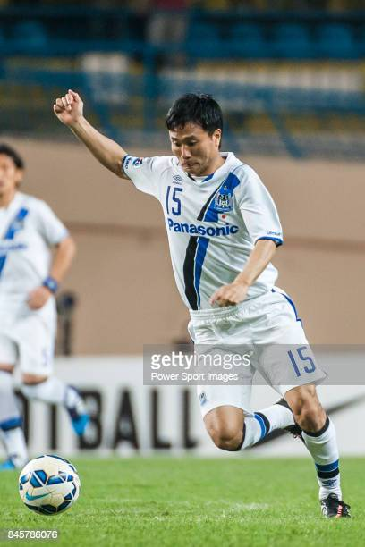 Gamba Osaka defender Konno Yasuyuki in action during the 2015 AFC Champions League Group Stage F match between Guangzhou RF and Gamba Osaka on April...