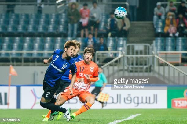 Gamba Osaka Defender Miura Genta in action during the AFC Champions League 2017 Group H match Between Jeju United FC vs Gamba Osaka at the Jeju World...
