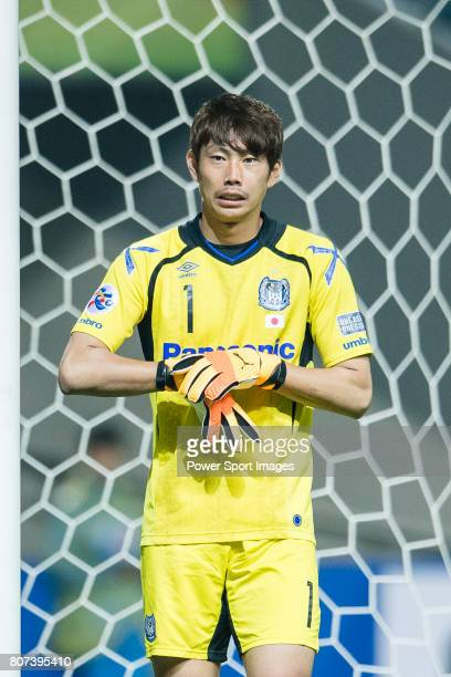 Gamba Osaka Goalkeeper Higashiguchi Masaaki in action during the AFC Champions League 2017 Group H match Between Jeju United FC vs Gamba Osaka at the...