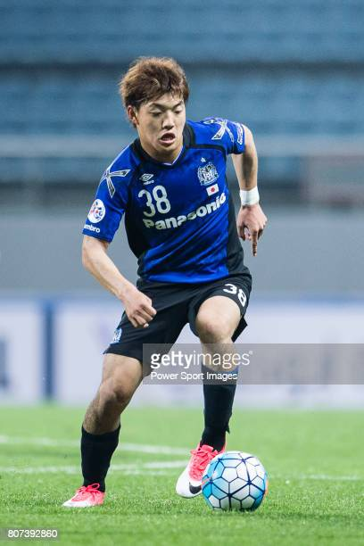 Gamba Osaka Midfielder Doan Ritsu in action during the AFC Champions League 2017 Group H match Between Jeju United FC vs Gamba Osaka at the Jeju...