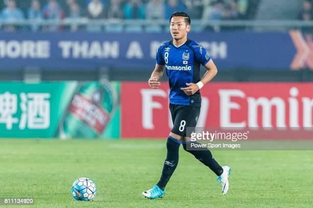 Gamba Osaka Midfielder Ideguchi Yosuke in action during the AFC Champions League 2017 Group H match between Jiangsu FC vs vs Gamba Osaka at the...