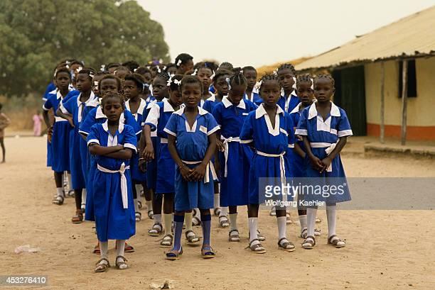 Gambia Jambur Village Independence Celebration Local Schoolgirls