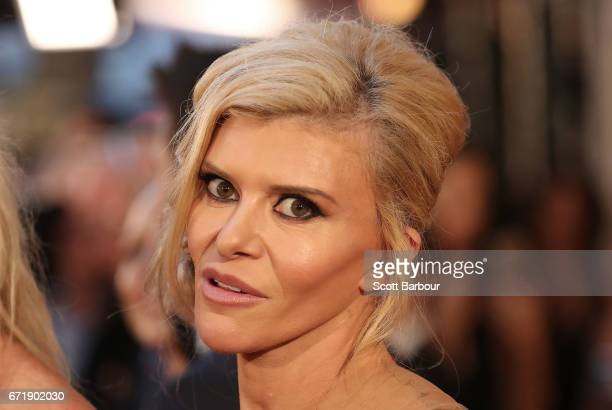Gamble Breaux from the 'Real Housewives of Melbourne' arrives at the 59th Annual Logie Awards at Crown Palladium on April 23 2017 in Melbourne...