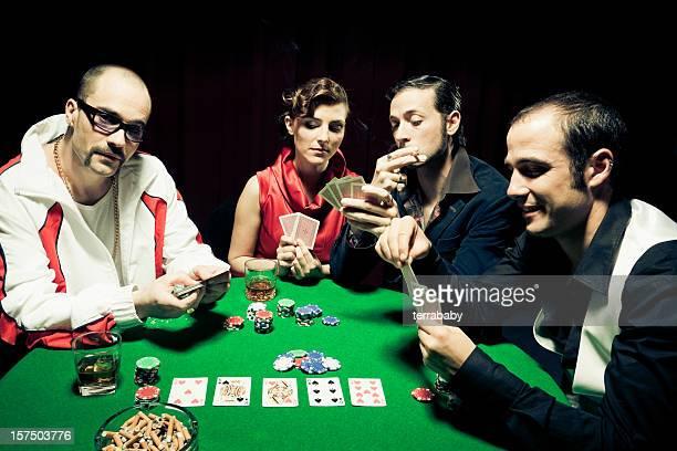 Gamblers Poker Playing